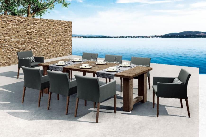 Zupełnie nowe Drewniany stół i nowoczesne krzesła - meble ogrodowe   CzasNaWnętrze BF79