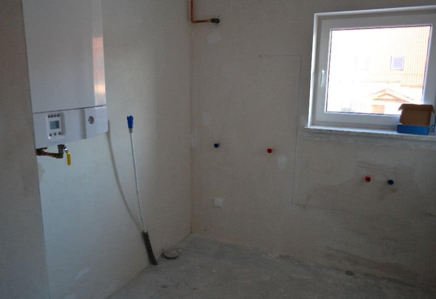 Łazienka z piecem gazowym | CzasNaWnętrze