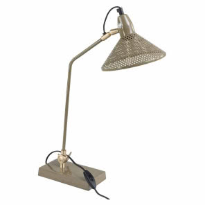 Lampa metalowa Desk - khaki, 9design, 495 zł