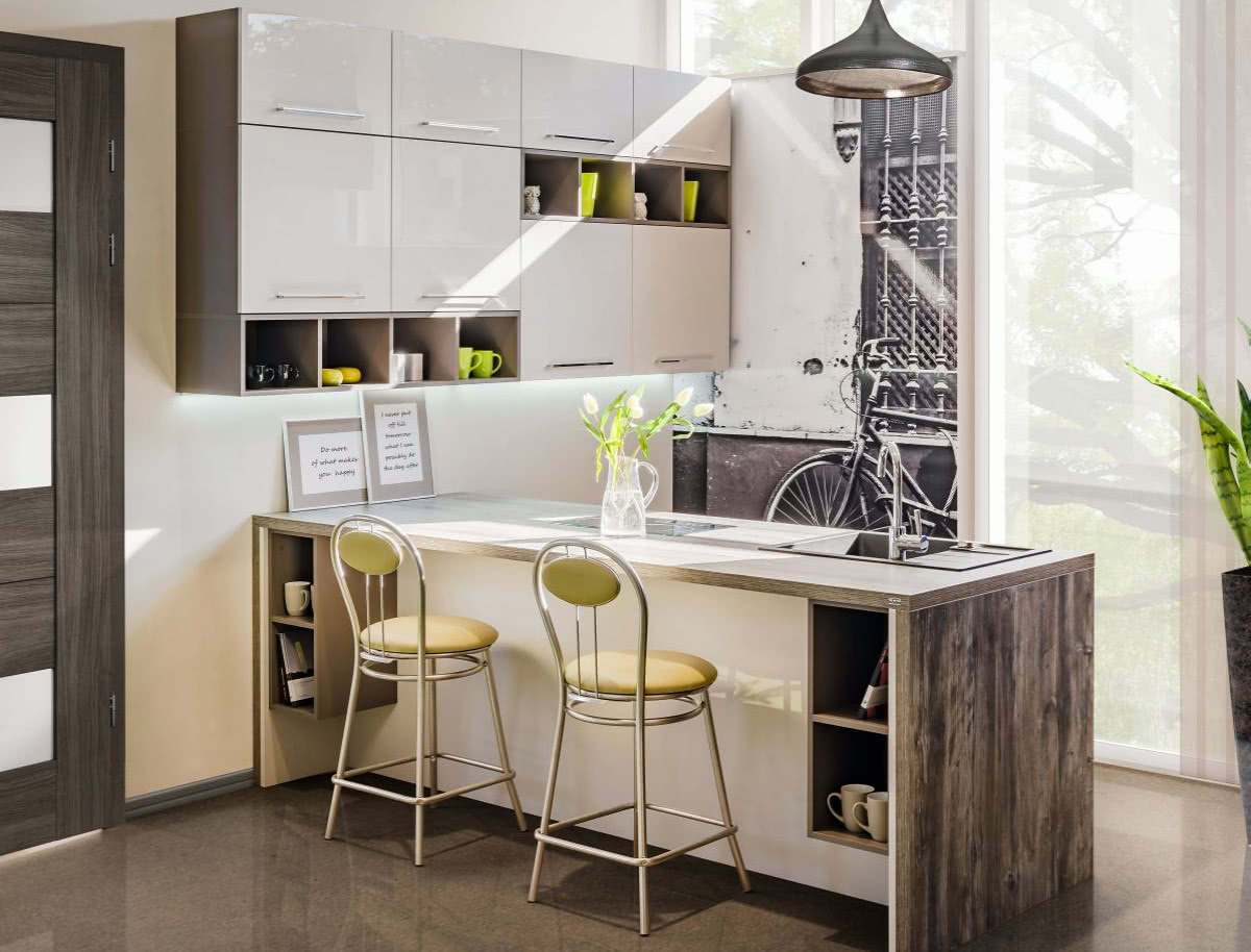 Otwarte Półki W Kuchni Czasnawnętrze