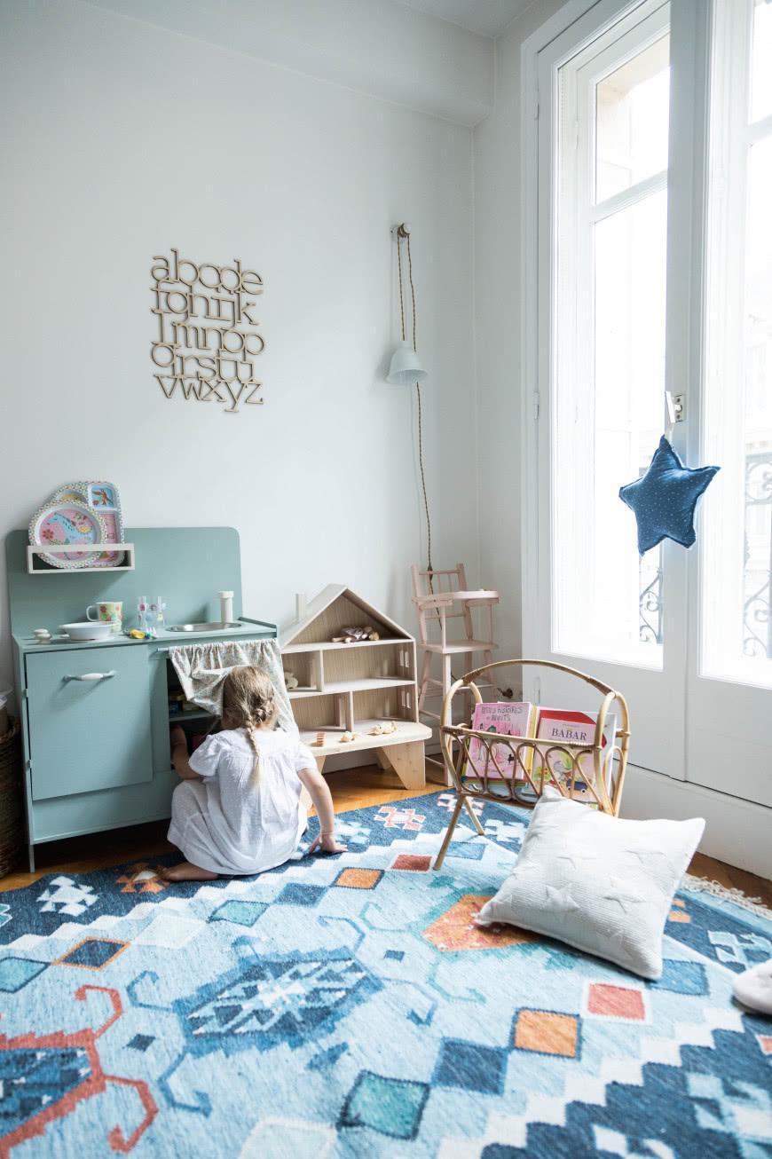 Niebieski Pokoj Dziewczynki Czasnawnetrze