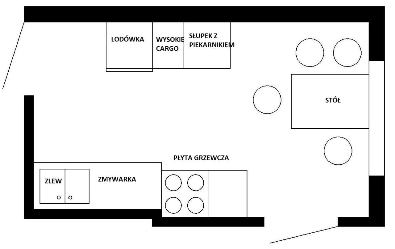 kuchnia z 2 wejściami jak urz�dzi� czasnawnętrze