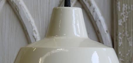 Lampa metalowa kremowa Scandi Chic 1