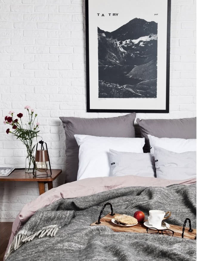 Sypialnia W Stylu Nowoczesna Skandynawska Czy Glamour Zdjecie