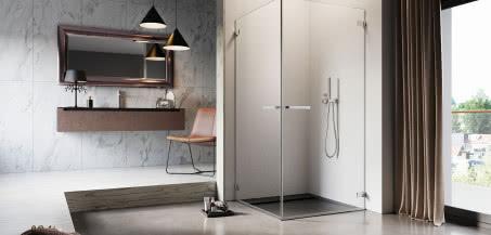 Przejrzysty design. Kabiny prysznicowe o subtelnych formach