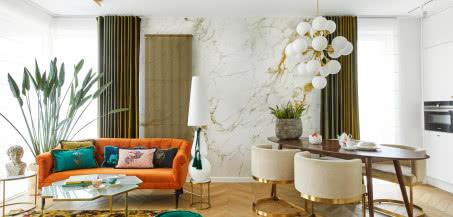 Kobieca finezja - wrocławskie mieszkanie w kolorowych barwach