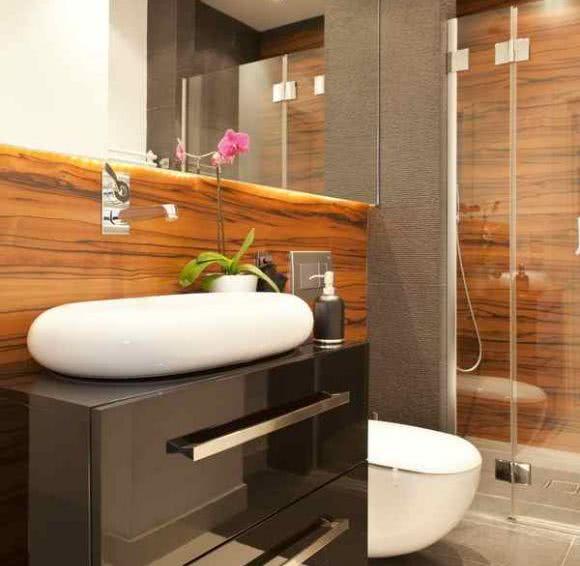Biel Czerń I Egzotyczne Drewno Dom Projektantów Zdjęcie