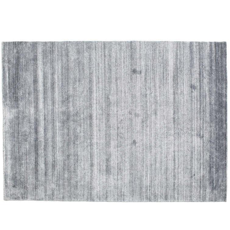 Dywan Loom Jedwab Bambusowy Niebieski Denim 140 X 200 Cm