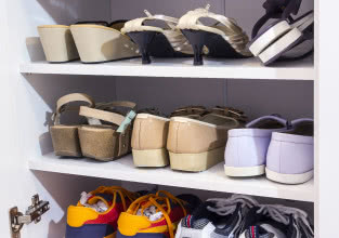 Szafka na buty - inspiracje do małego przedpokoju