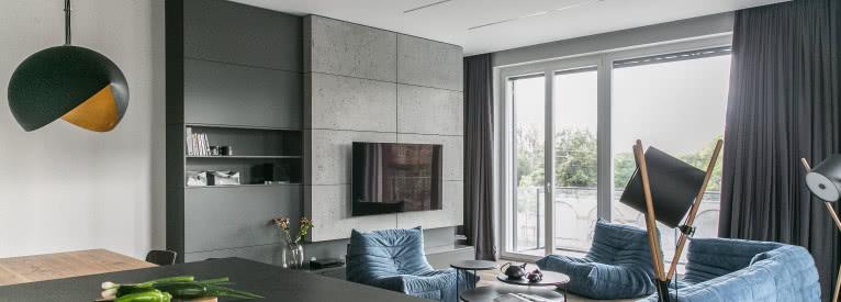 Apartament w Poznaniu - minimalizm z niebem w tle