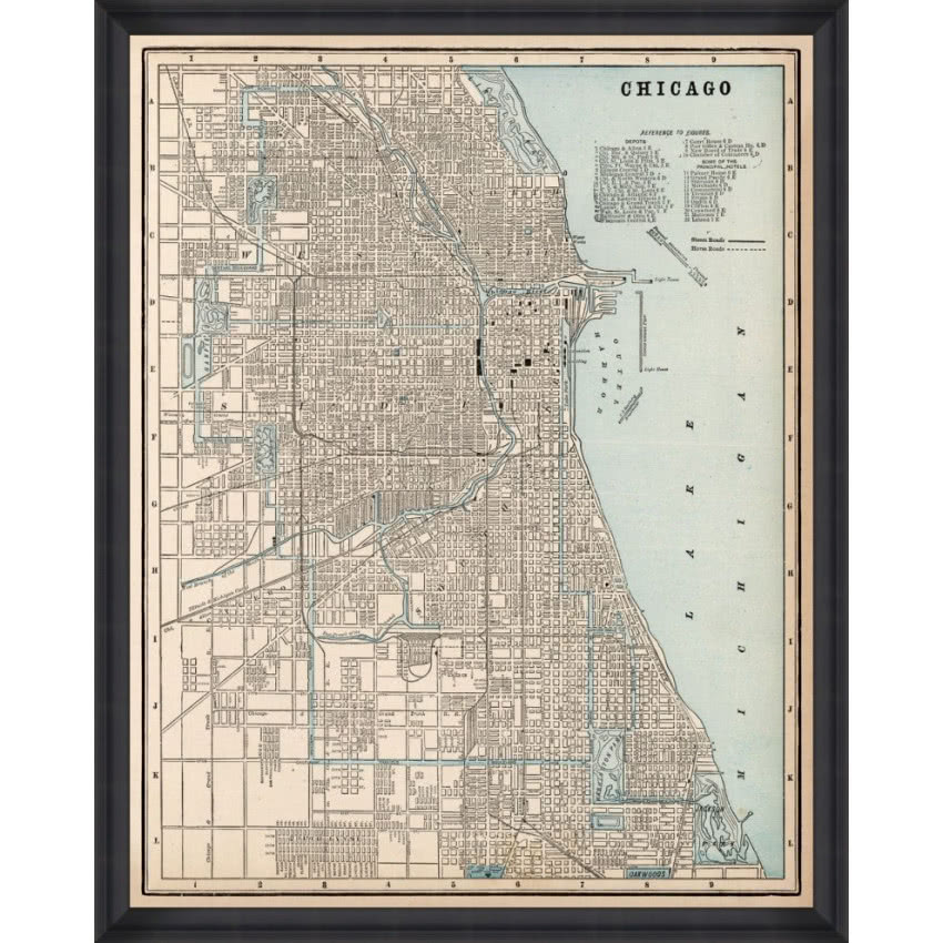 Dekorian Home, MindTheGap, Chicago map 80 x 100cm