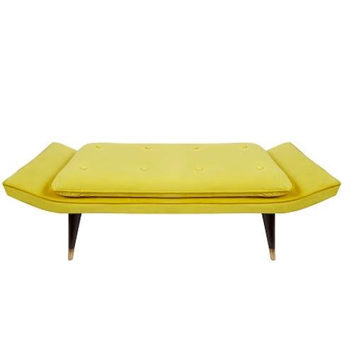żółte Siedzisko Butik Czasnawnętrze