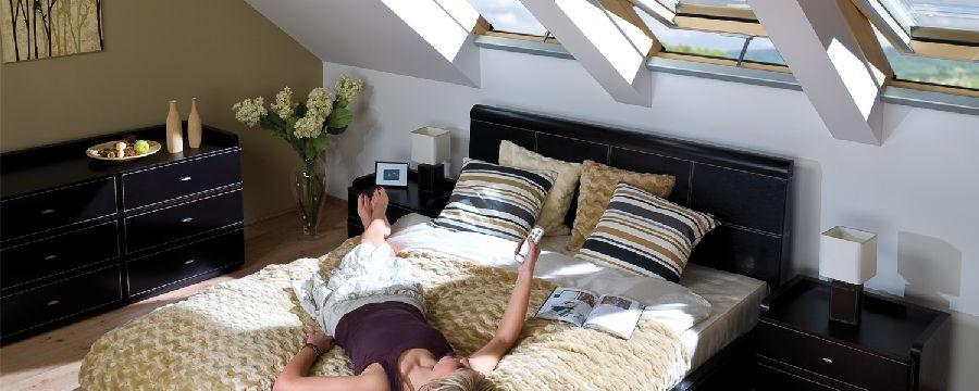 Sypialnia Na Poddaszu Czasnawnętrze