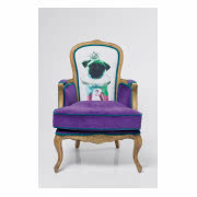 Fotel Villa Sessel Granfather Mops Purple