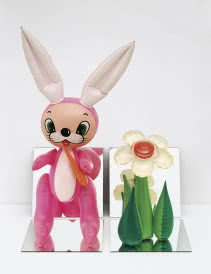 Inflatable Flower and Bunny, © Jeff Koons