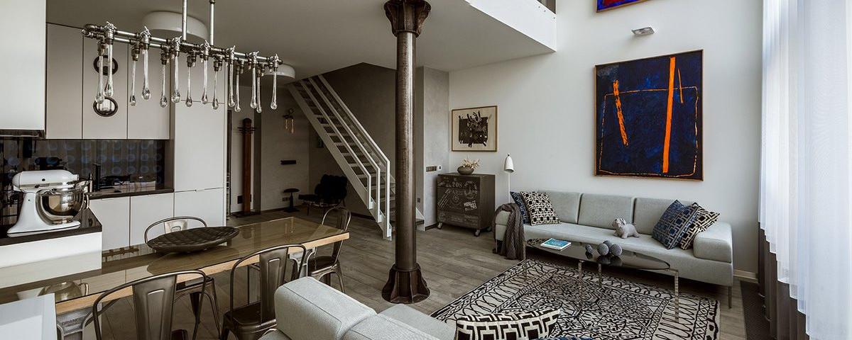 Eleganckie Mieszkanie Z Industrialnymi Akcentami Czasnawnętrze
