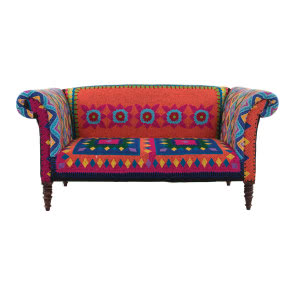 Obita tkaniną sofa Mexican