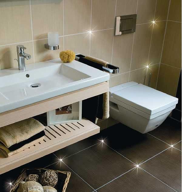Diodowe Oświetlenie łazienki Czasnawnętrze