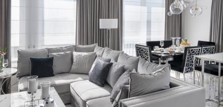 Luksusowe i przytulne wnętrze w stylu glamour