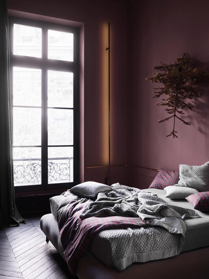 Ciemne Kolory W Sypialni Czasnawnętrze